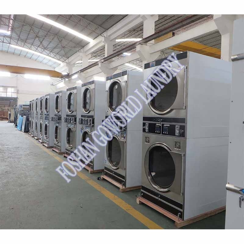 2*12kg electric heating commercial and industrial drying machine