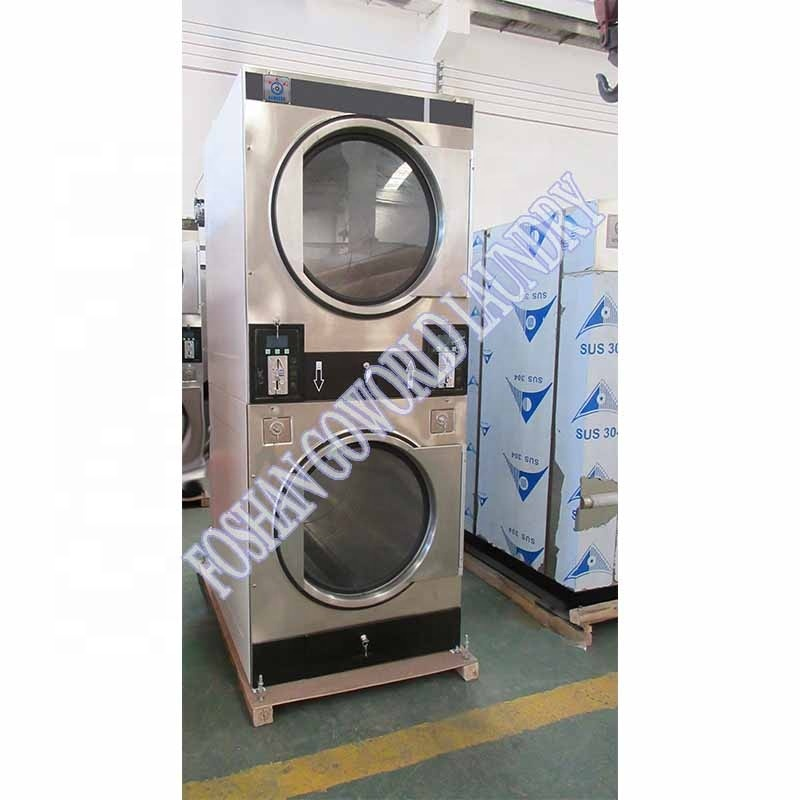 8kg-12kg stack dryers(industrial&commercial laundry washing machine,dryer,ironer)