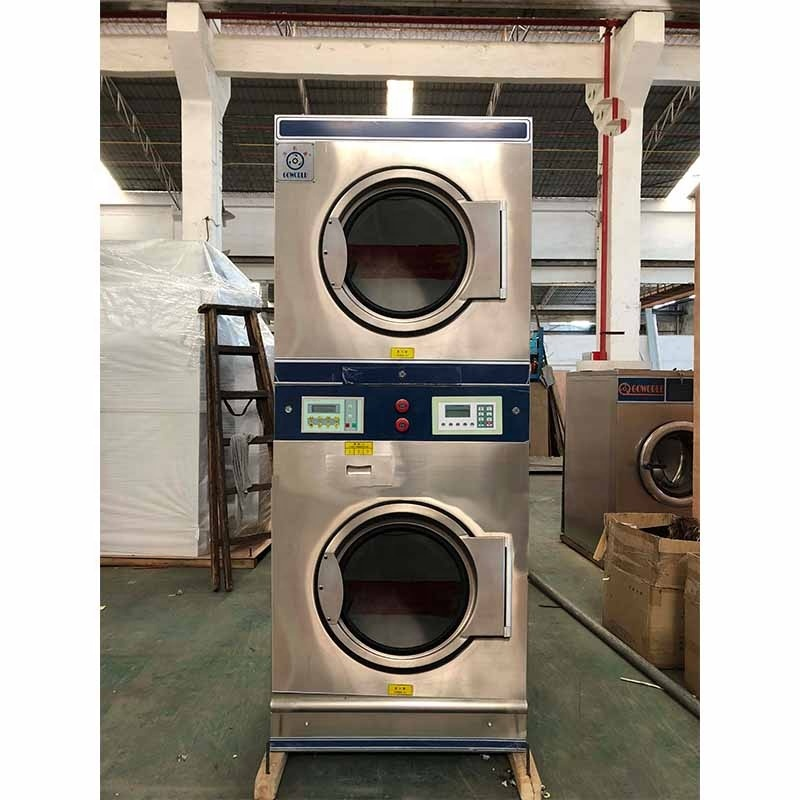 2*12kg gas heating stack dryers-industrial washing machines and dryers