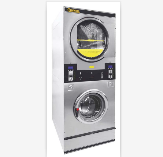 Gas heating industrial washing machine with dryer