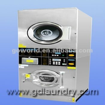 12kg Coin Operated Stack Washer Dryer---laundry machine