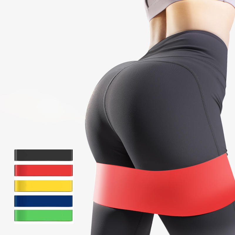TAIHAI Gym fitness Custom printed logo Yoga Stretch Band Latex exercise mini loop band resistance fitness band sets