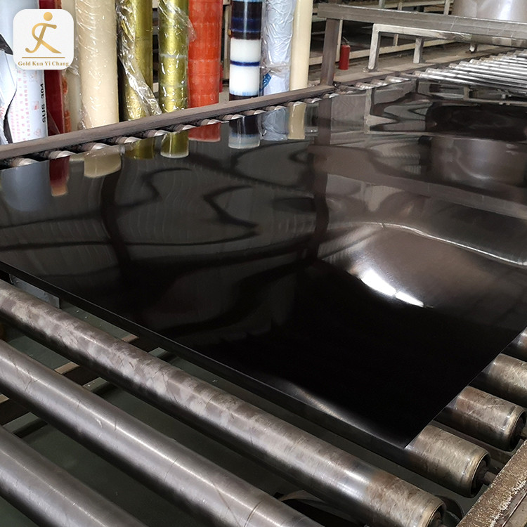 Art Design SS 316 Stainless Steel Plate Price Per Pound Black Titanium Mirror Finish Laser Cut Stainless Steel Sheet