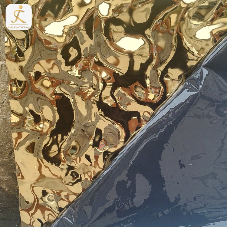Decorative Gold Pattern Decorative Polished Stainless Steel Sheets Suppliers 3D Stainless Steel Metal Sheet Decor