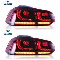 VLAND manufacturer for car taillight for VW Golf6 tail light 2008-2013 for MK6 LED rear lamp with moving turn signal+DRL