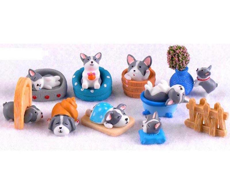 Factory DIY Decoration Garden Miniatures Terrarium Figurines Cute Puppy 10/A