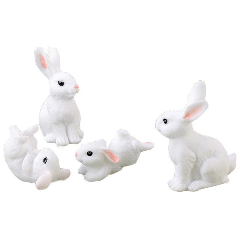 Resin Miniature Terrarium Easter Bunny Figurine Rabbit Garden Decoration