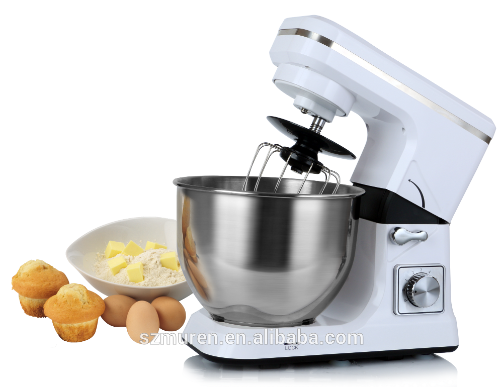 Plastic House Dough Mixer With 5L Stainless Steel Mixing Bowl