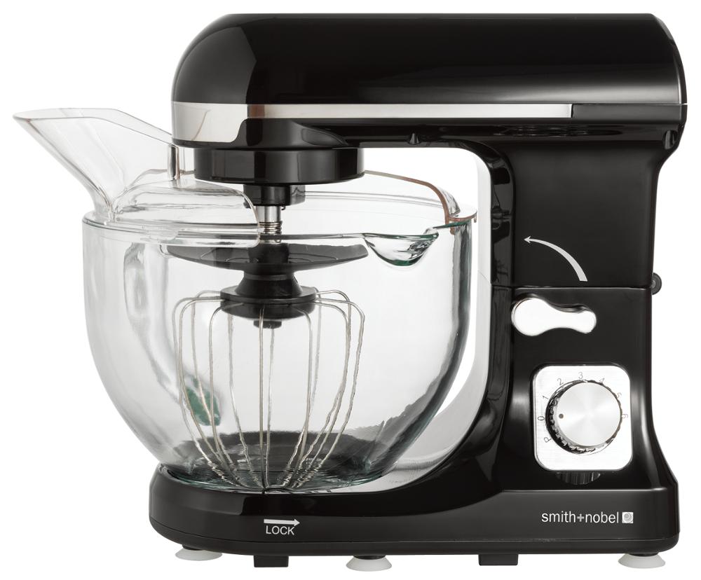 Glass mixing bowl industrial dough mixer
