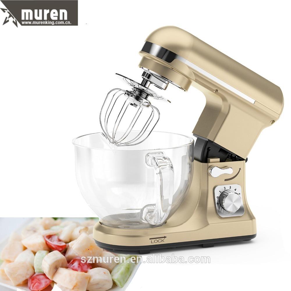 Muren table top food mixer with glass bowl