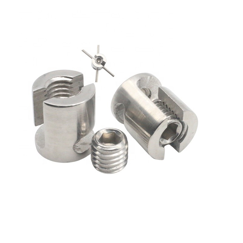 Adjustable 316 Stainless Steel Trellis Cross Rope Clamp