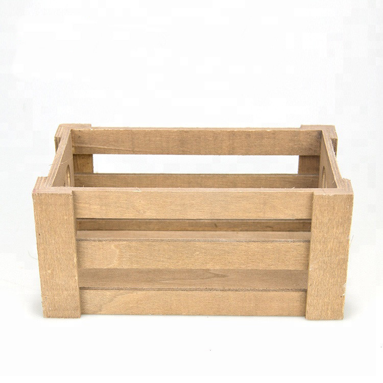 Good sales eco-friendly cheap wooden crate for beer flower fruits