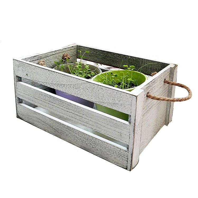 Customized size cheap wooden plant fruits crates wholesale