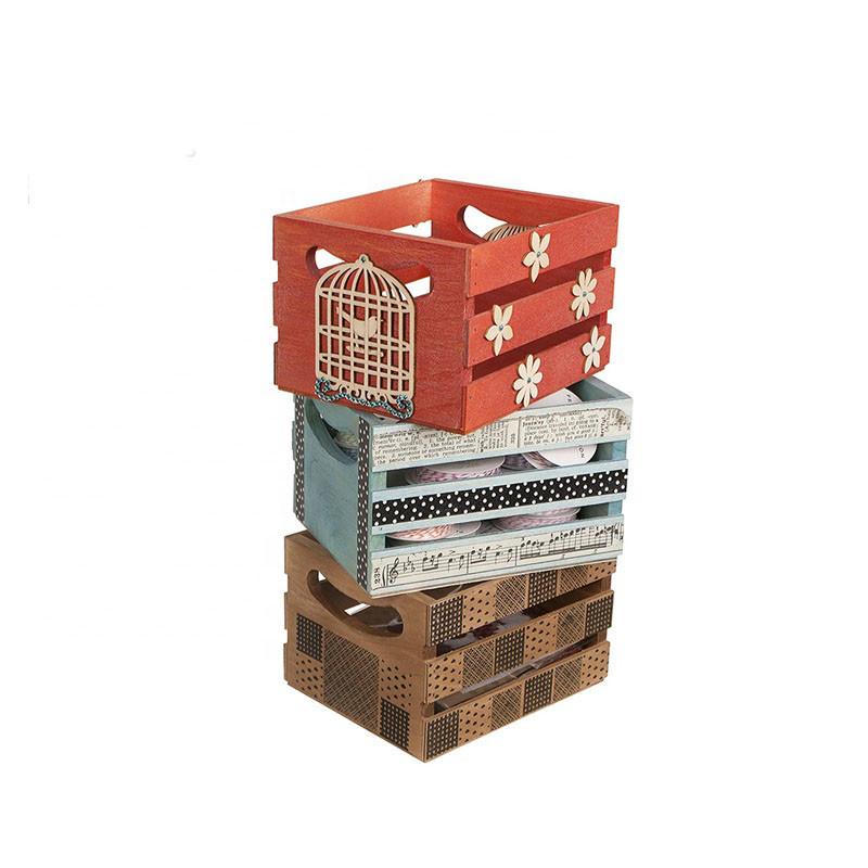 Multipurpose storage simple useful natural handmade wooden wine crate