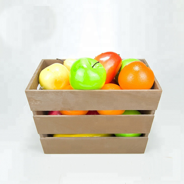 Eco-friendly custom size simple useful wooden vegetable crates for sale
