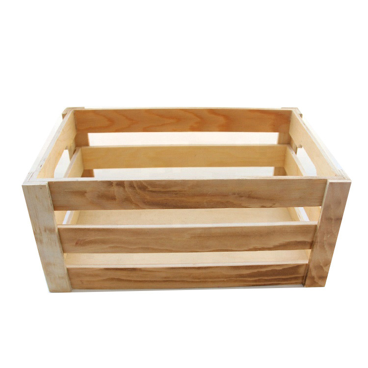 Low price simple useful wooden crates for fruit and vegetable