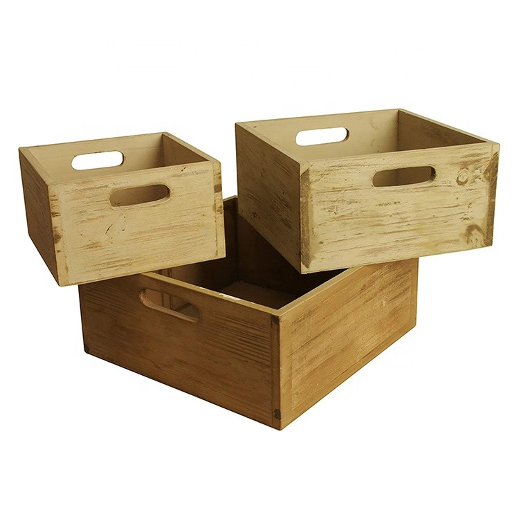 Wholesale handmade large wood crate wooden box