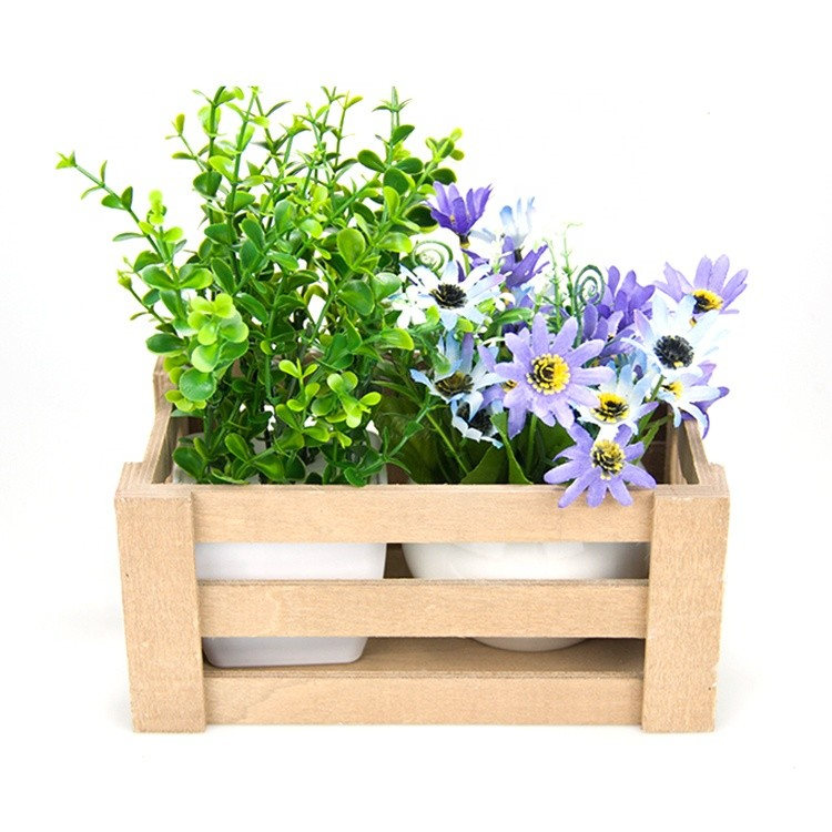 Cheap price OEM simple distressed wooden crate box for vegetables