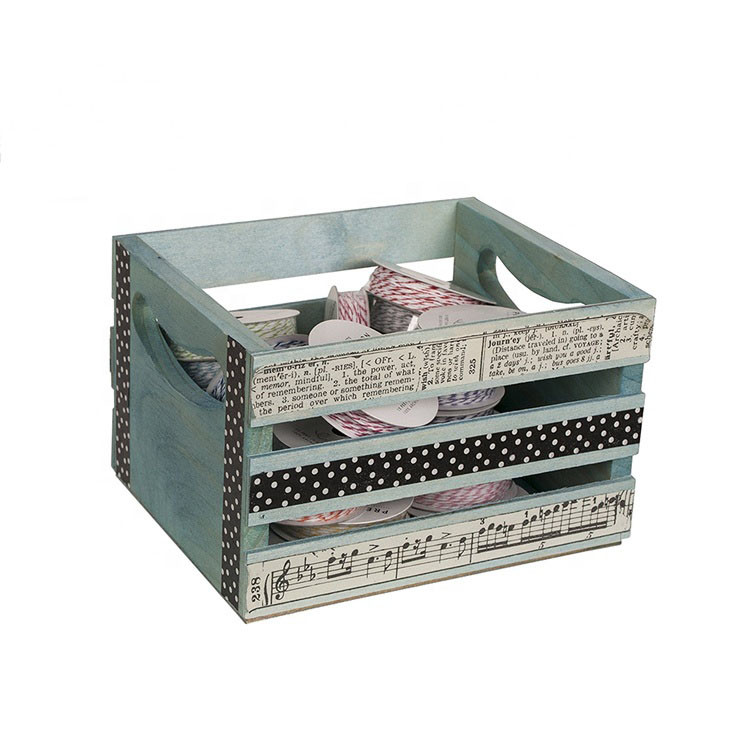 Wholesale OEM accepted Modern simple useful handmade mini wooden crates