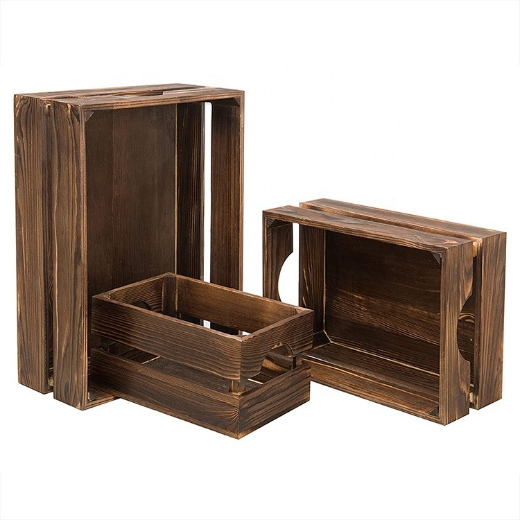 Hand crafted rustic simple and usefulwooden apple crates for sale