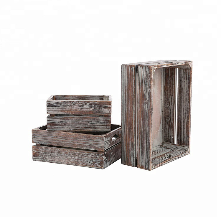 Low price useful simple gift eco-friendly wood crates unfinished