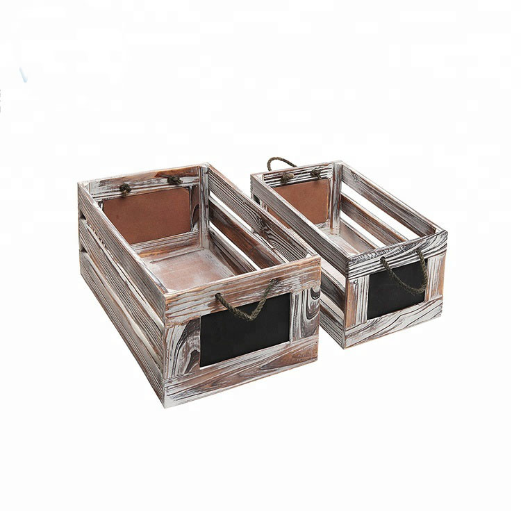 Wholesale simple useful OEM accepted wooden crates with handle