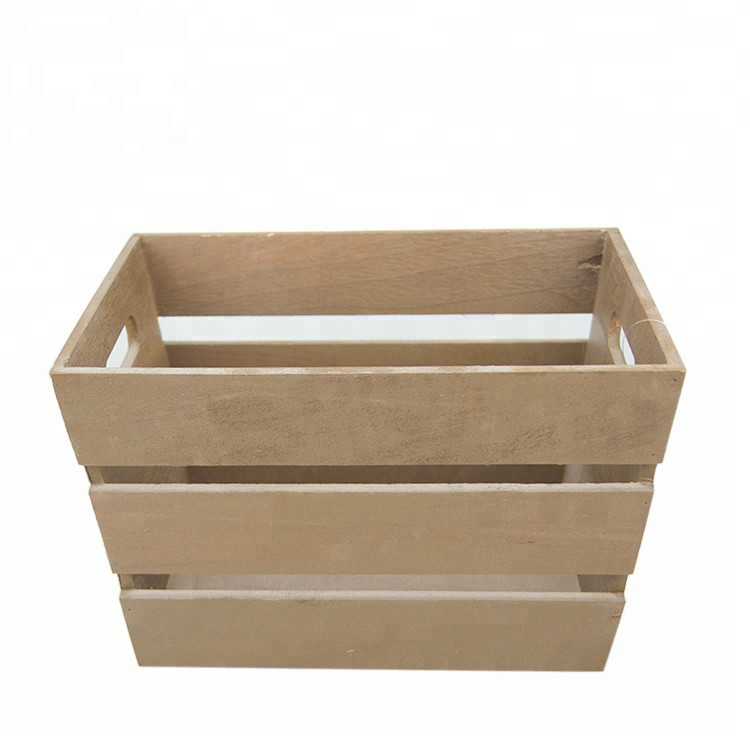 Useful and simple handmade fruit wooden box crates for sale