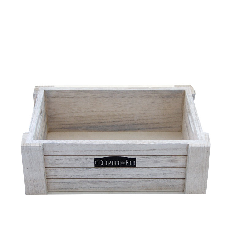 Eco-friendly simple useful decorative pine wood decorative wooden gift crate