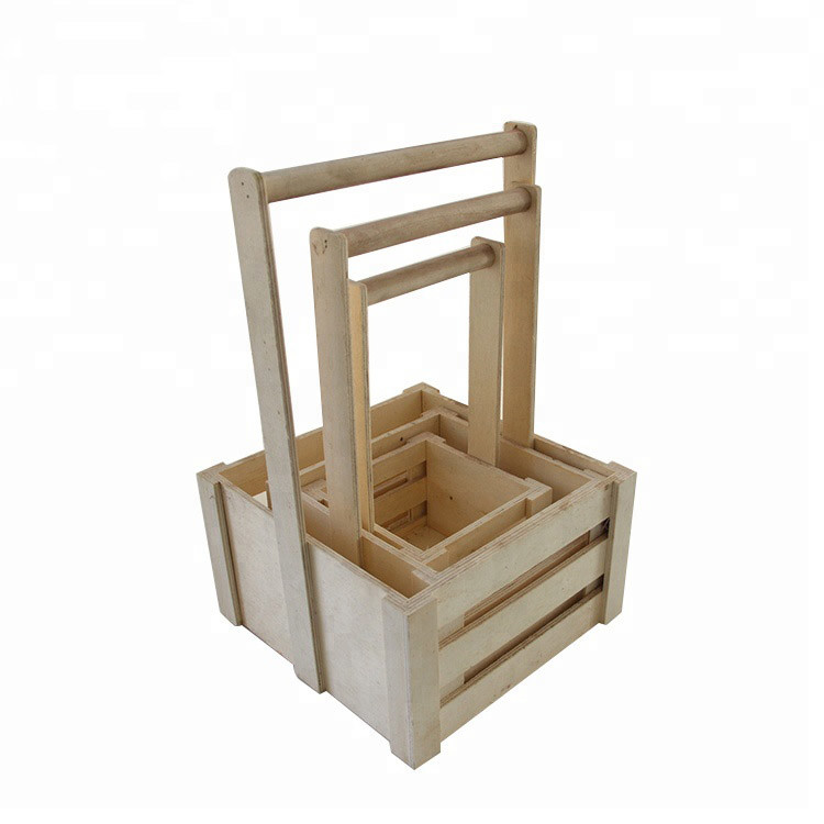 Popular European style used wooden basket crates for fruits vegetables