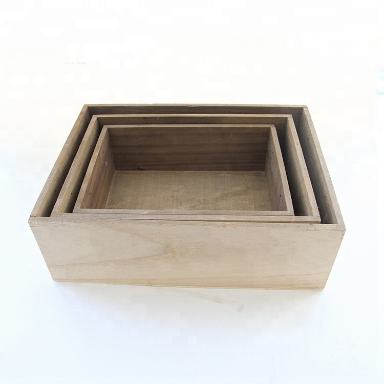 Customized size and color wooden small useful industrialstorage crate