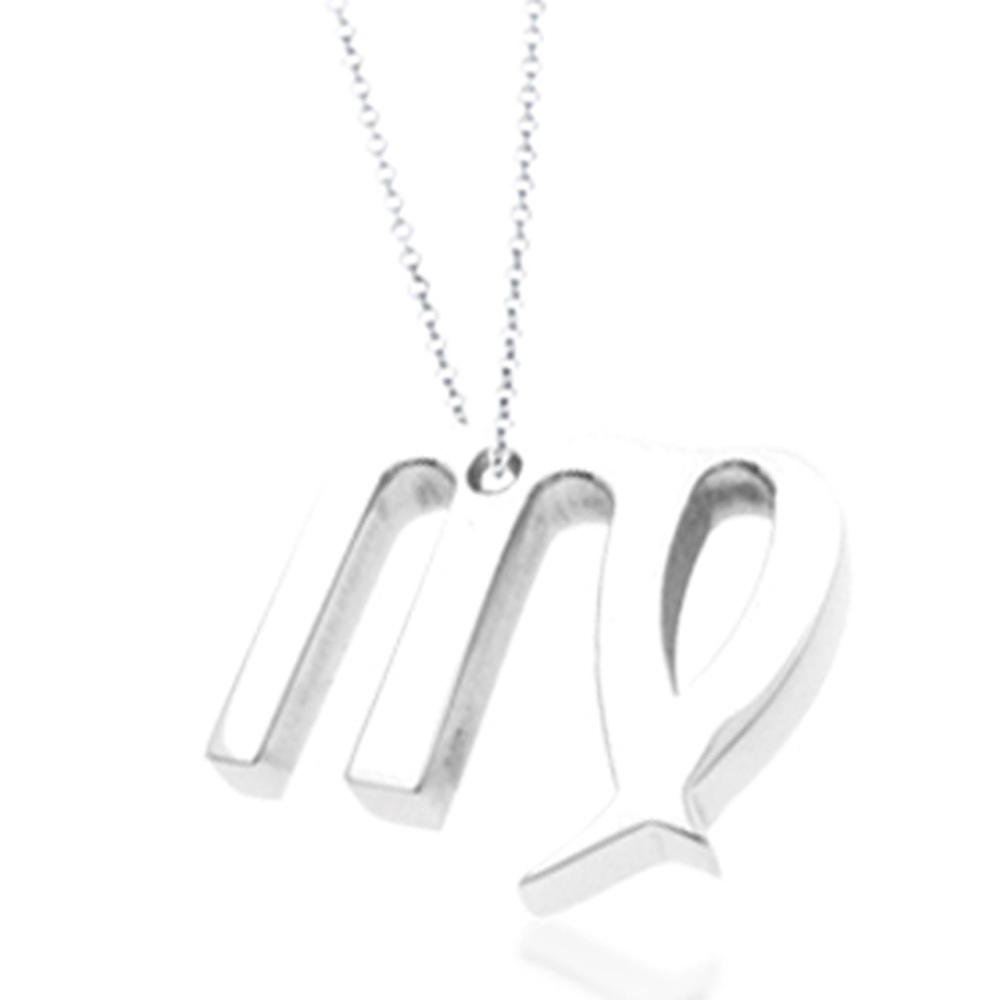 Stainless steel custom design m alphabet letter charms