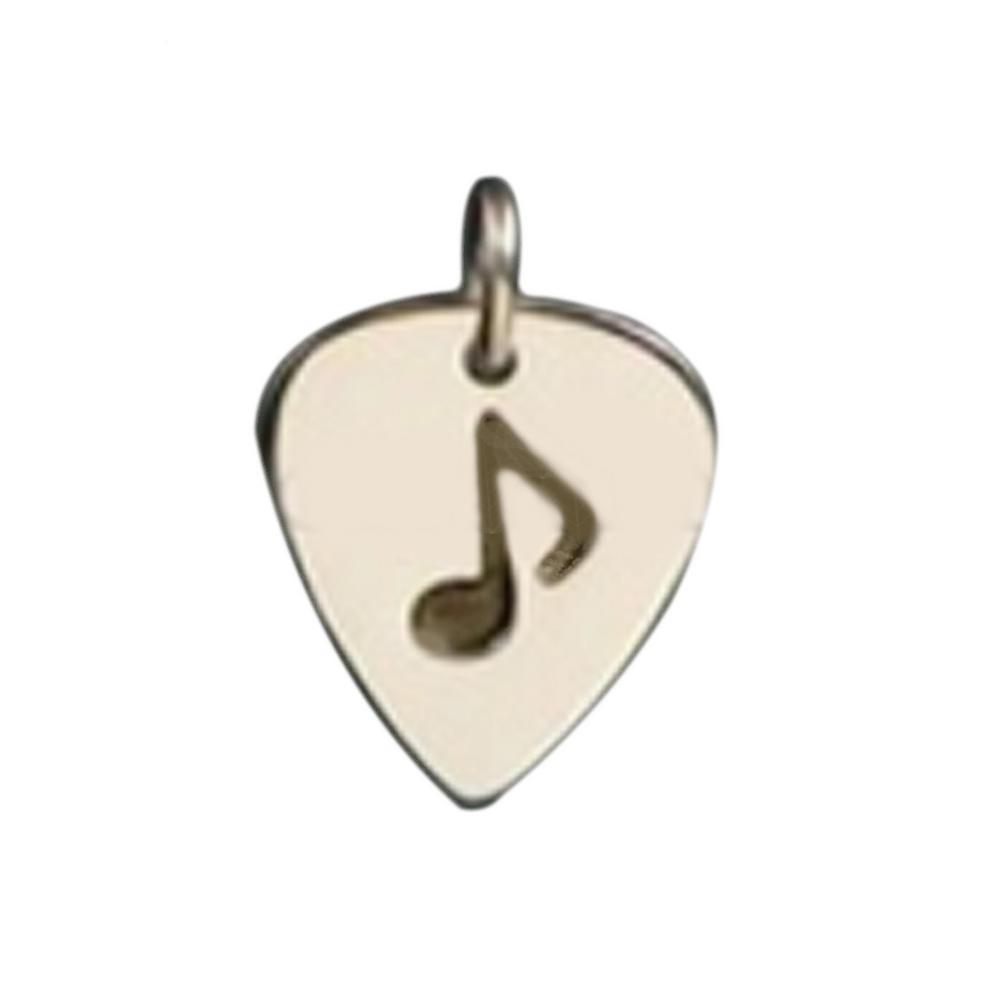 Fashion Stainless Steel Guitar Pick Pendant Music Jewelry