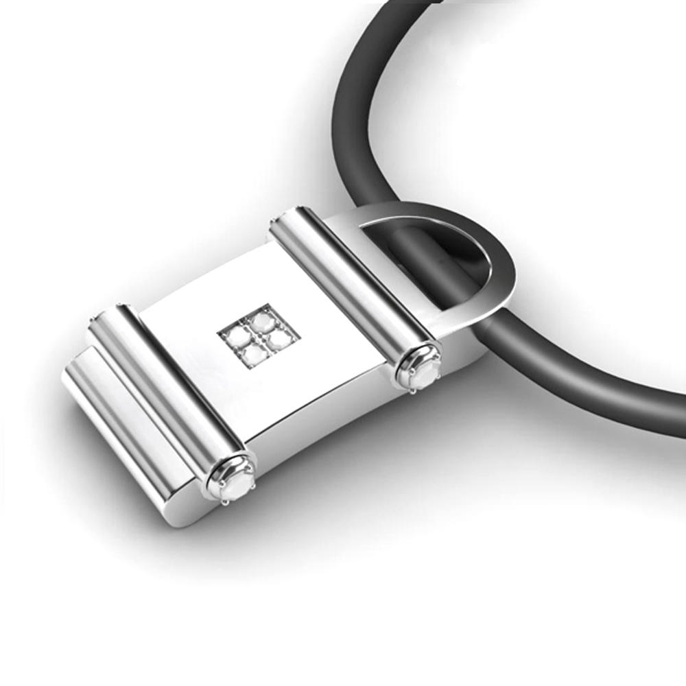 Shiny black lock engraved latest men collar designs