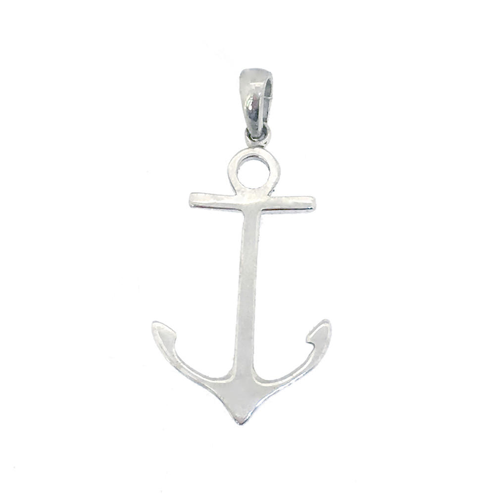 Elegant stylish fashion engagement metal anchor pendant
