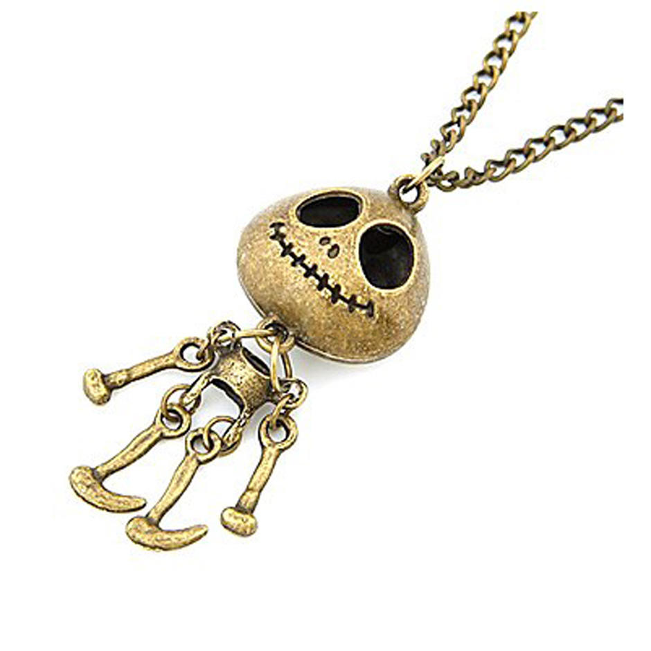 Engraved Skeleton Doll Russian Gold Jewelry Antique Copper Plated