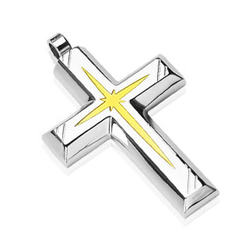 Peace and love yellow jewelry silver wholesale cross