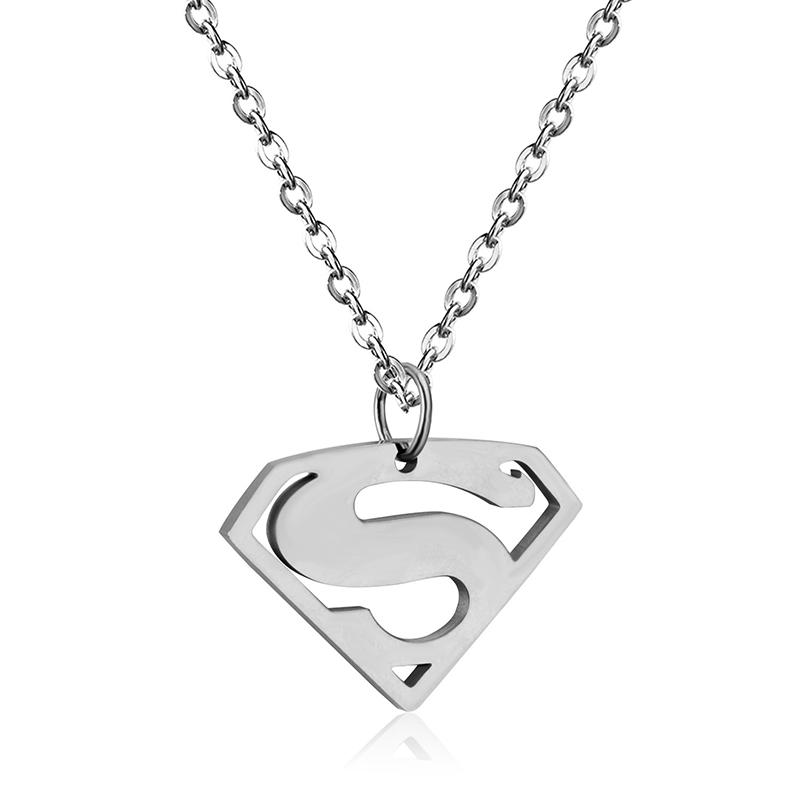 Fashion Quantum Science Effects Superman Stainless Steel Necklace