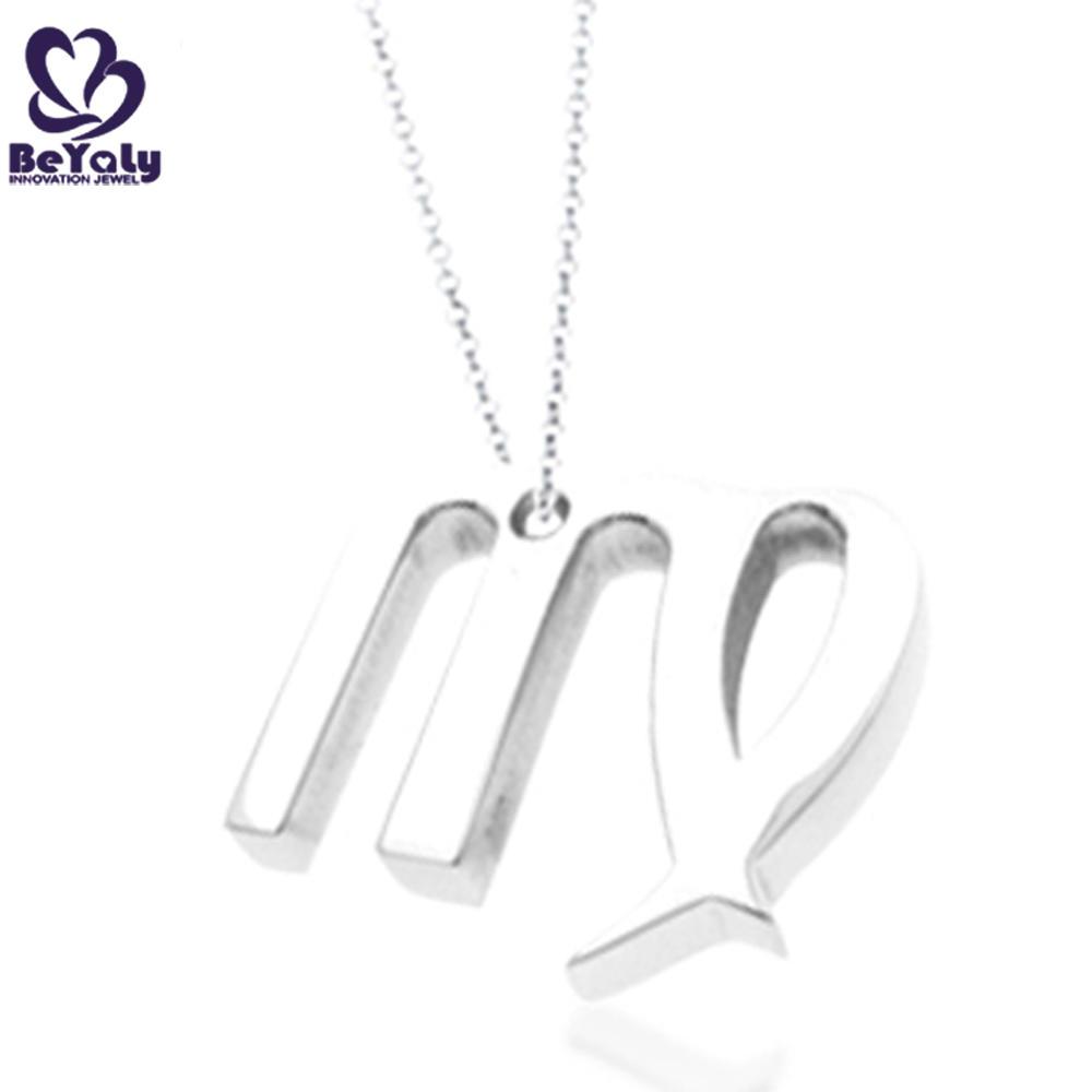 Stainless steel custom design m alphabet letter charms