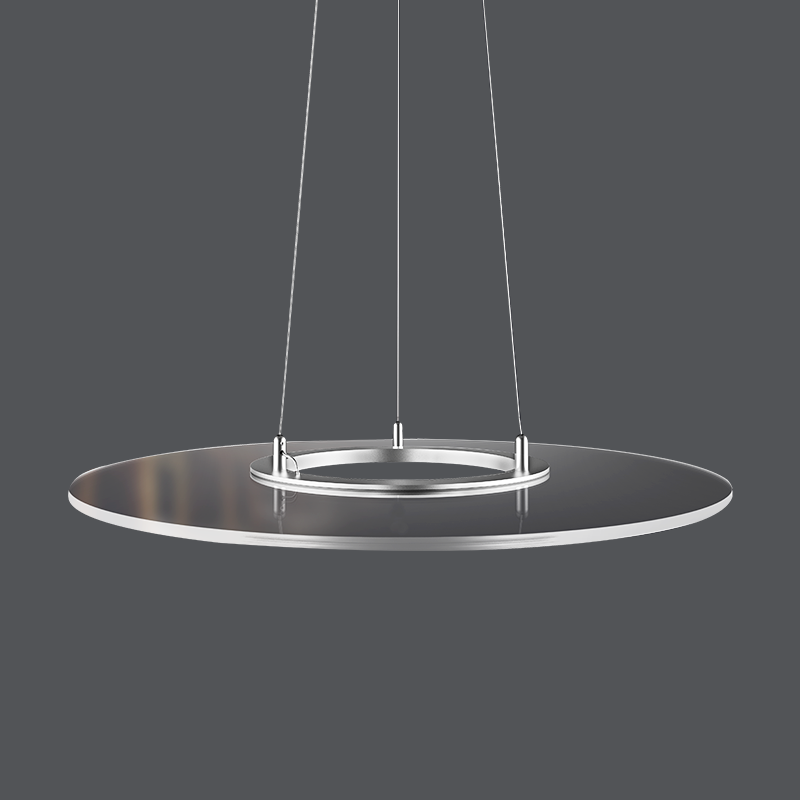 2020 new 36w RF Control Chandelier ring clear panel lamp led transparent circle panel light
