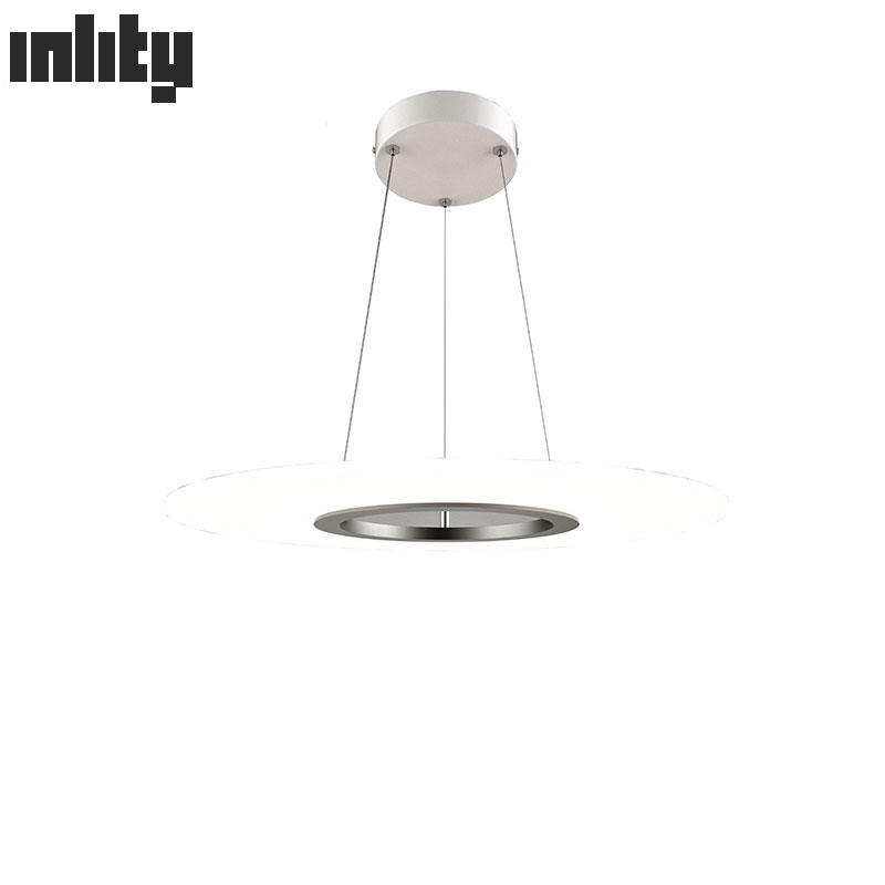 36W Dimmable Round Clear Panel Pendant Light