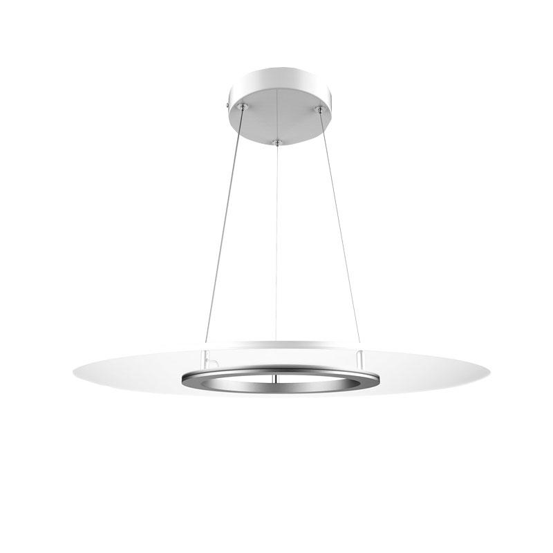 Ultra-thin 36W Dimmable Clear Round Panel Pendant Light With High CRI