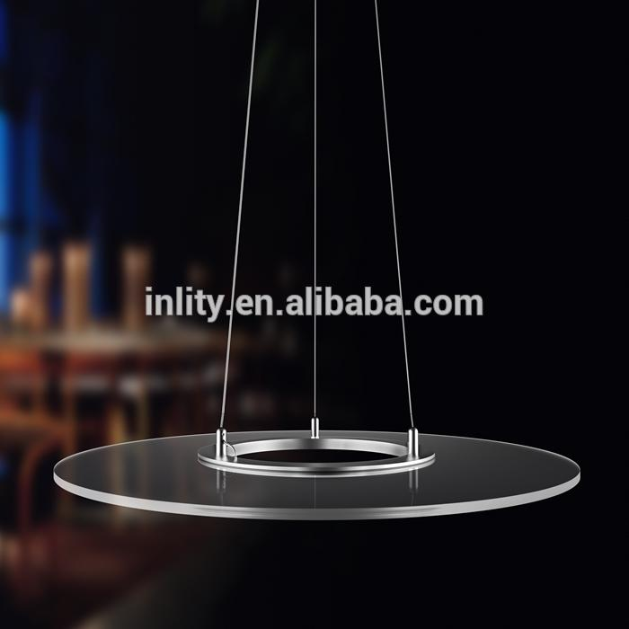 Round Clear Panel Led Pendant Light,Clear Panel Pendant Light