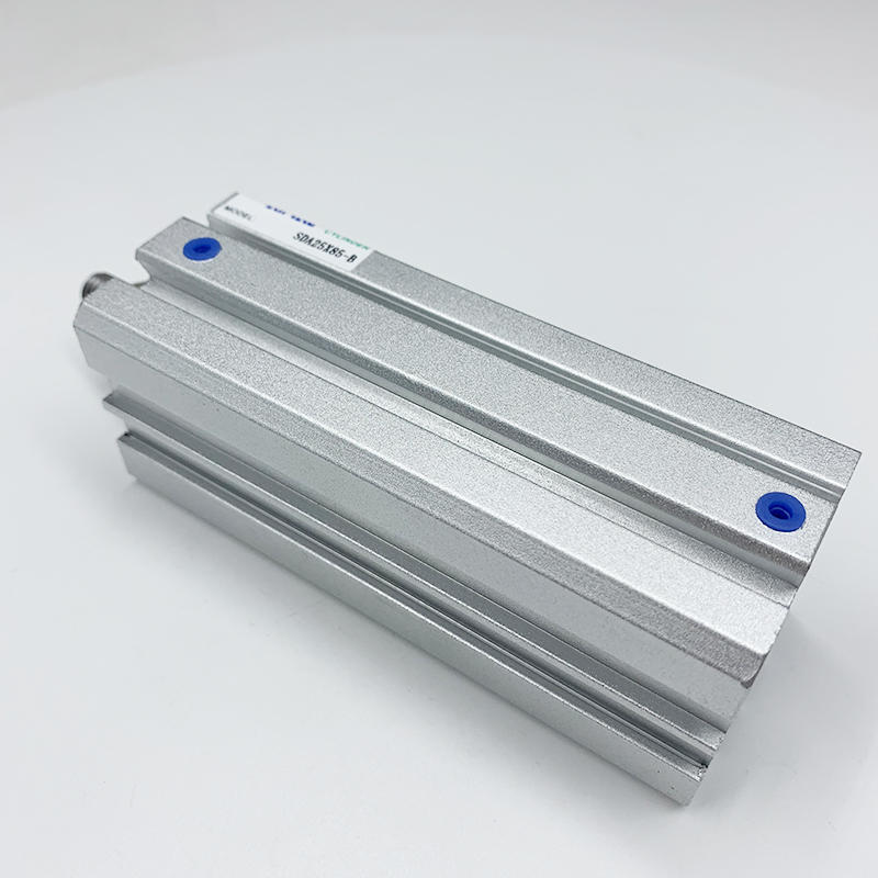 Double Acting Pneumatic Cylinder SDA Series SDA32X25 SDA25X85-B Compact Aluminium Alloy Air Cylinder