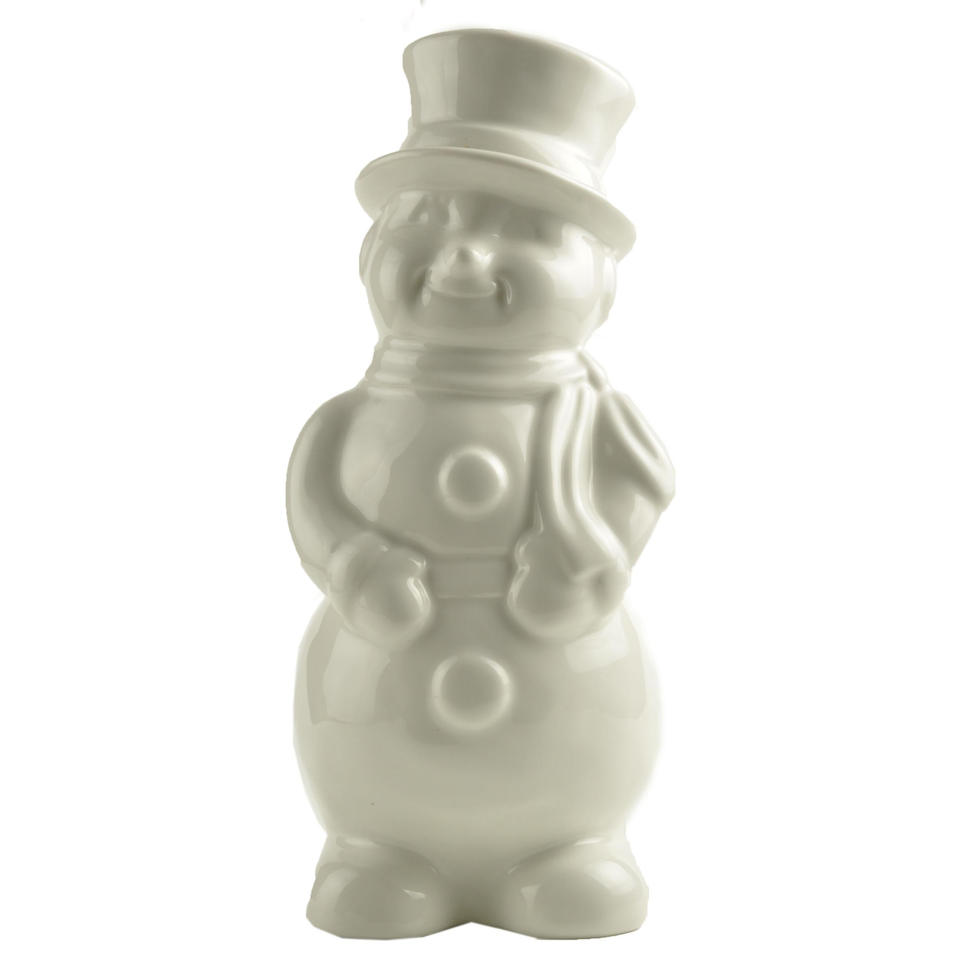 Wholesale New custom design personalized White Ceramic Snowman Decor Christmas home decoration