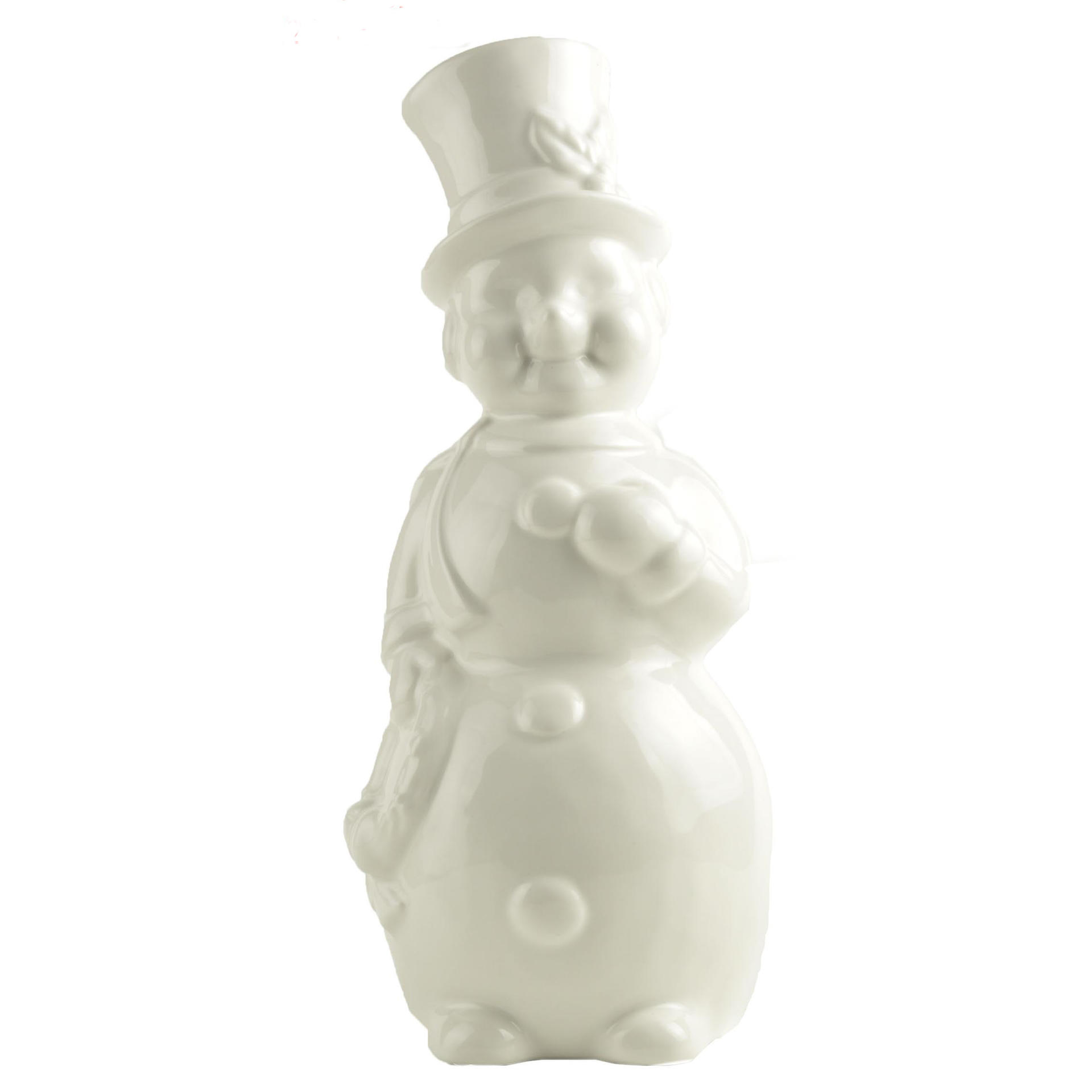 Hot sale New custom design personalized White Ceramic Snowman Decor Christmas home decoration