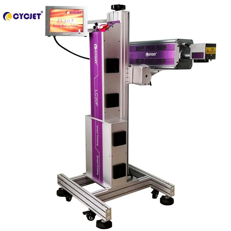 CYCJET Smart LC30F CO2 Laser Marking Machine on Glass Bottle