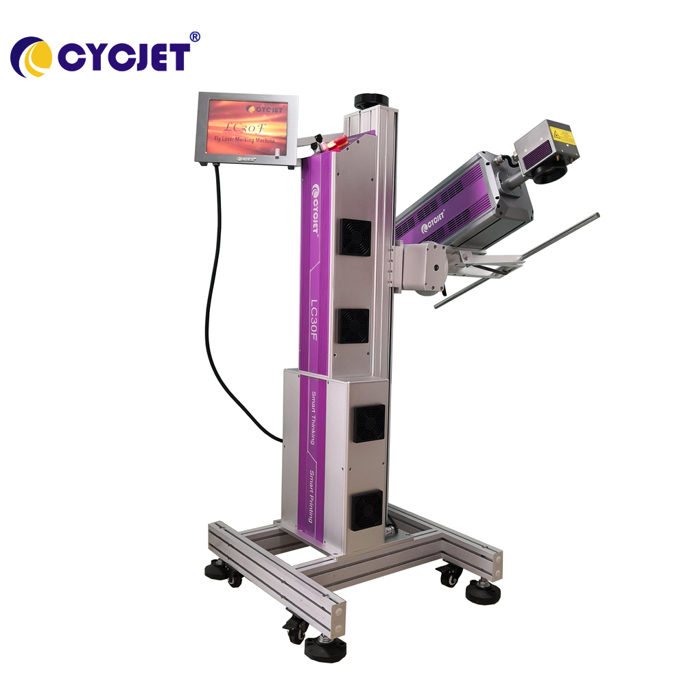 High Quality CYCJET LC30F CO2 FlyLaser Coding Machine for Cosmetic Box