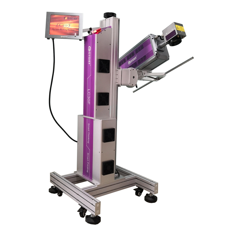 CYCJET CO2 Fly Laser Marking Machine for Bottle of Red Wine