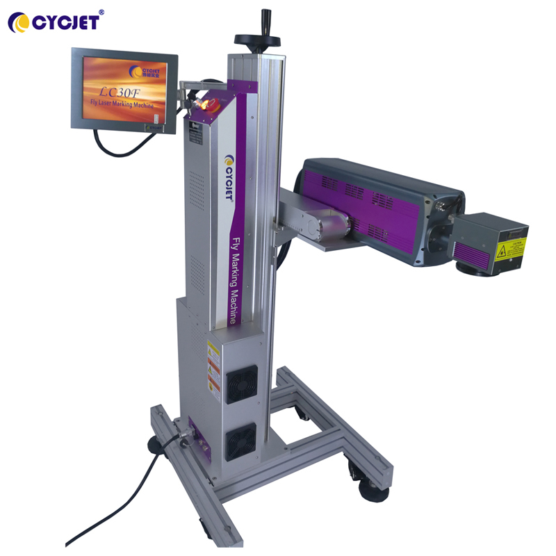 CYCJET New Design CO2Fly Laser Marking Machine on Nonmetal Material