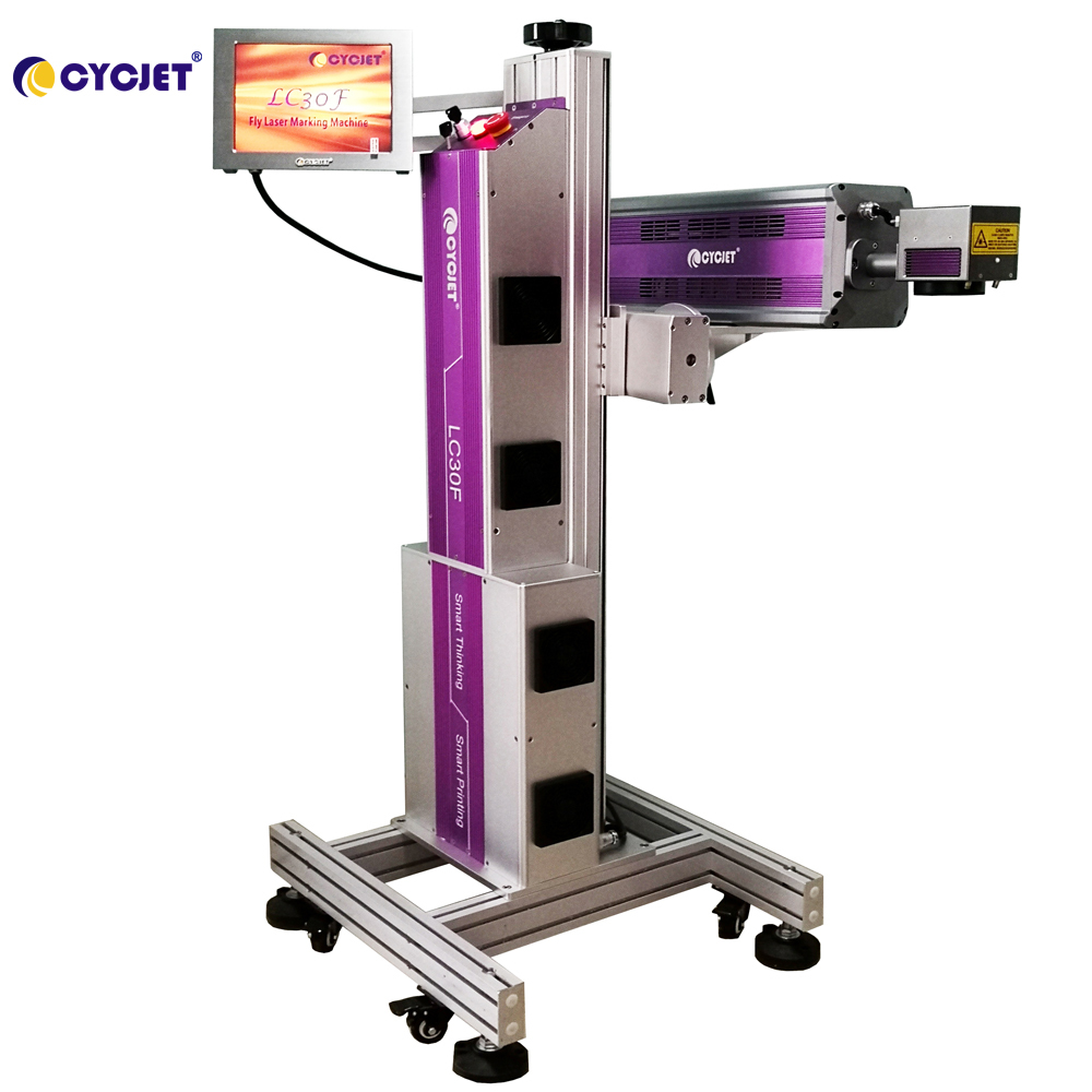 CYCJET High Speed CO2 Fly Laser Marking Machine for Beer Bottle & PET Bottle